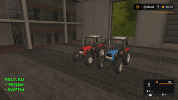 Трактор MTZ 892.2 WORN V1.0 для Farming Simulator 2017