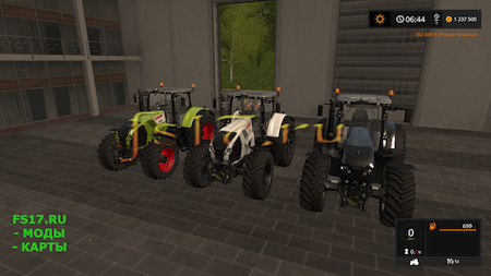 Трактор CLAAS AXION 800 V1.0.0.0 для Farming Simulator 2017