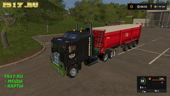 Тягач CAT KENWORTH K100 V1.0 для Farming Simulator 2017