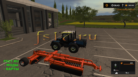 Культиватор LAUMETRIS TVLL 8 V1.0.0.0 для Farming Simulator 2017