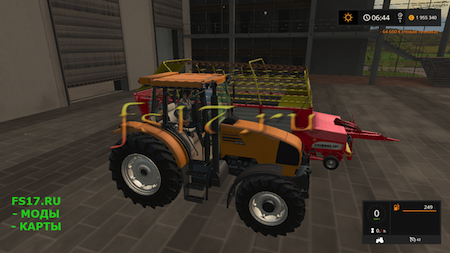 Трактор RENAULT ARES 550 RZ V1.1 для Farming Simulator 2017