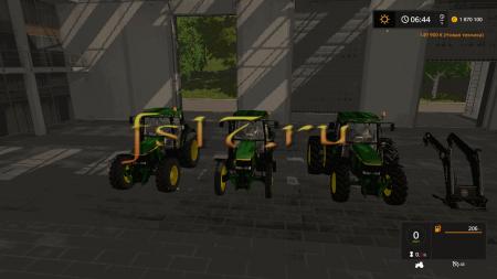Трактор JOHN DEERE 6810/6910 V1.0.0.0 для Farming Simulator 2017
