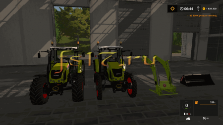 Трактор CLAAS AXOS 330 V1.0 для Farming Simulator 2017