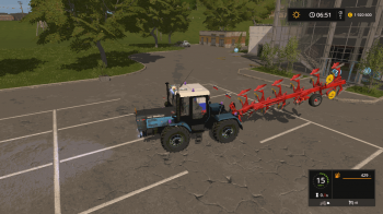 Оборотный плуг POETTINGER SERVO 45S PLUS NOVA V1.0 для Farming Simulator 2017