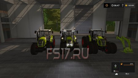 Трактор Claas Axion 800 v 3.0 для Farming Simulator 2017