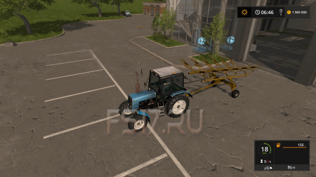 Валковая жатка VERMEER RAKE 1224 V1.0 для Farming Simulator 2017