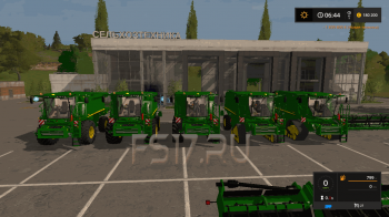 Комбайн JOHN DEERE T SERIES OFFICIAL V3.0 для Farming Simulator 2017