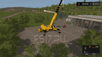 Автокран CATERPILLAR CRANE V 1.0 для Farming Simulator 2017