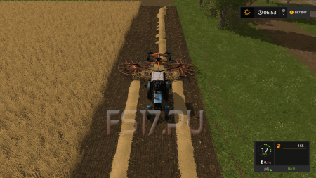 Валковая жатка KUBOTA RA 2072 V1.0 для Farming Simulator 2017
