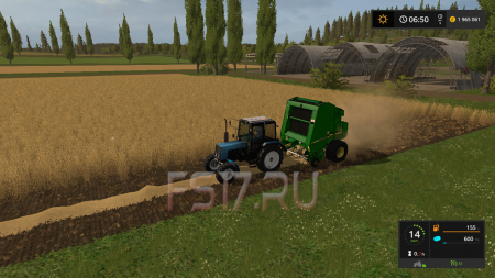 Тюкопресс JOHN DEERE 568 V1.1 для Farming Simulator 2017