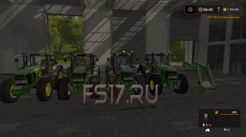 Трактор JOHN DEERE 6030 PREMIUM V1.1.0.0 для Farming Simulator 2017