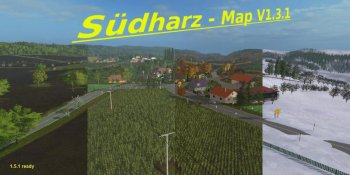 Карта SUDHARZ MAP V1.3.1 SEASONS для Farming Simulator 2017