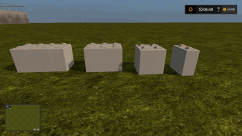 Объект GE CONCRETE BLOCKS (PREFAB) V1.0 для Farming Simulator 2017