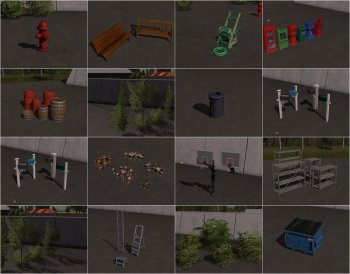 Пак объектов GE OBJECTS PACK BY DESPERADOS93 для Farming Simulator 2017