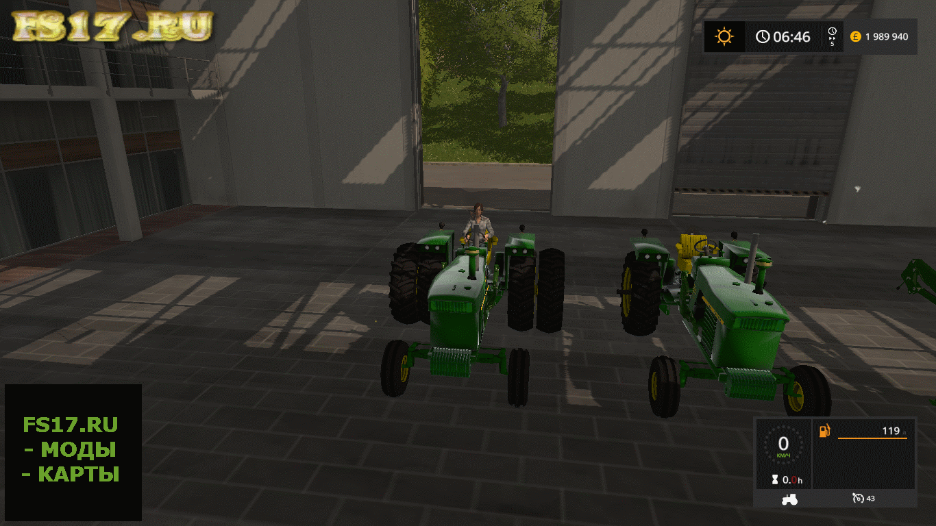 Пак тракторов JD 4020 WIDE AXLE WITH LOADER V1.0 для Farming Simulator 2017