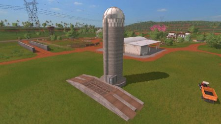 Объект GE GRAINS STORAGE SILO (PREFAB) V1.0 для Farming Simulator 2017