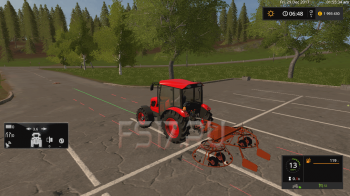 Валковая жатка ГН 4.5 v 1.0 для Farming Simulator 2017