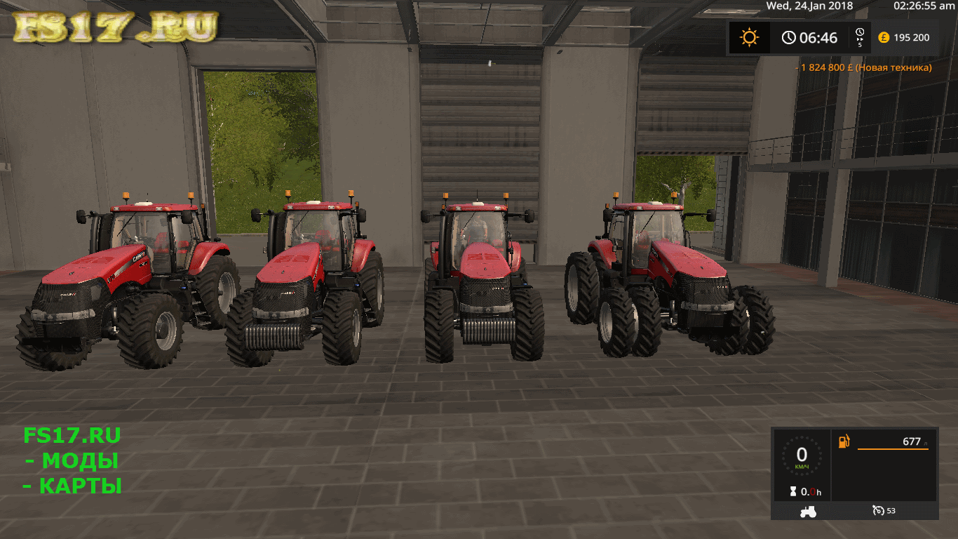 Трактор CASE IH MAGNUM V1.0 для Farming Simulator 2017