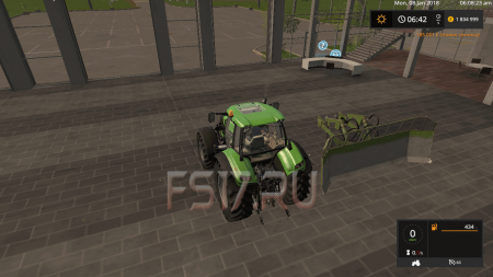Отвал KIROVETS NVA SCHIEBESCHILD V1.7 для Farming Simulator 2017