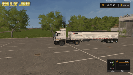Полуприцеп WILSON BELLY DUMP TAG AXLE 50 GRAIN TRAILER V1.2 для Farming Simulator 2017