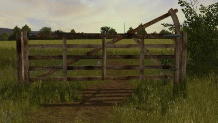 Объект GE A WOODEN GATE TO USE ON MAPS V1.0 для Farming Simulator 2017
