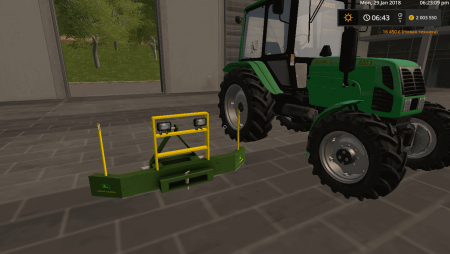 Противовес FRONTWEIGHT WITH LIGHTS 2000KG V2.2 для Farming Simulator 2017