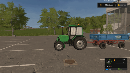 Прицеп 2 ПТС 4 v 1.2 для Farming Simulator 2017