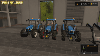 Трактор NEW HOLLAND T5000 V0.9 BETA для Farming Simulator 2017