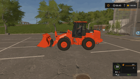 Погрузчик HITACHI ZW150-6 V1.1 для Farming Simulator 2017