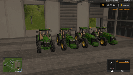 Трактор JOHN DEERE 8030 SERIES FINAL для Farming Simulator 2017