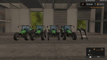 Трактор DEUTZ-FAHR AGROSTAR 6.XX V1.1.0.0 для Farming Simulator 2017
