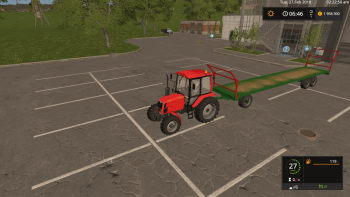 Прицеп для тюков COUTAND PFB T18 V1.0 для Farming Simulator 2017