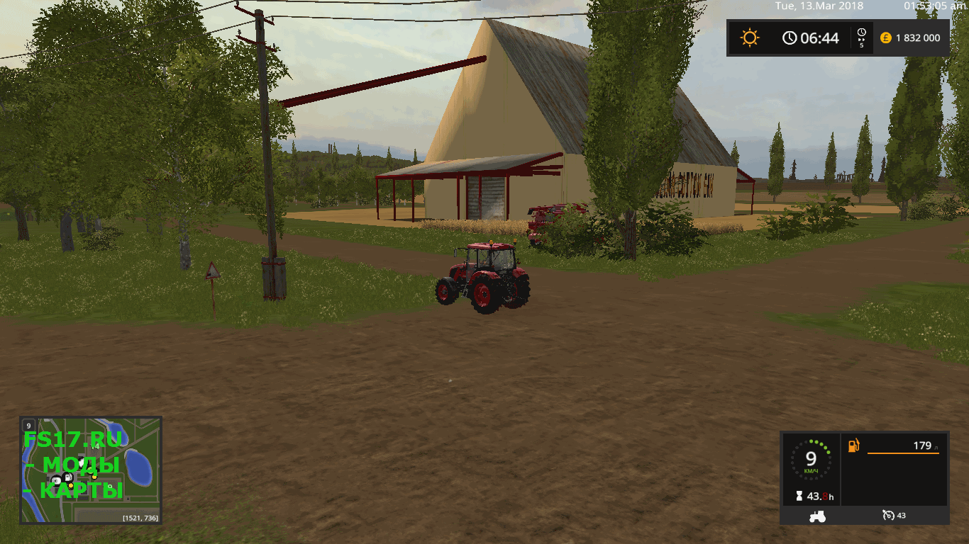 Декоративный объект COTTON GIN PLACEABLE BUILDINGS V1.0 для Farming Simulator 2017