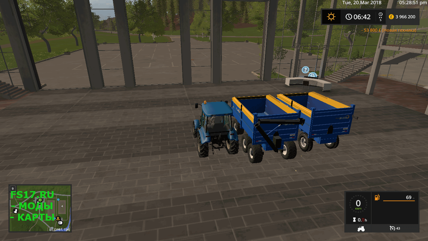 Прицеп INDUSTRIAL BECKER CAMH 12000 V1.1 для Farming Simulator 2017