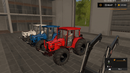 Трактор HUERLIMANN H488 WITH BIG WHEELS V1.0 для Farming Simulator 2017