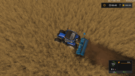Культиватор LEMKEN ZIRKON 10/300 V1.0.0.0 для Farming Simulator 2017