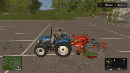 Агрегат HOLARAS SWEEPER TURBO A-270-V V1.0 для Farming Simulator 2017