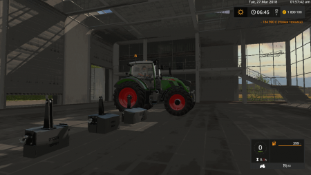 Пак противовесов FENDT WEIGHTS PACK V1.0.0.0 для Farming Simulator 2017