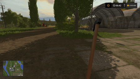 Топор WOODEN CHOP AXE V1.0.0.0 для Farming Simulator 2017