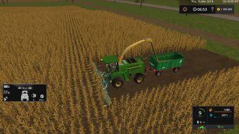 Кормоуборочный комбайн JOHN DEERE 7950I V1.0 для Farming Simulator 2017