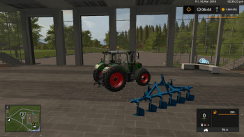 Плуг ПСКУ 6 v 1.0 для Farming Simulator 2017