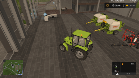 Тюкопресс CLAAS ROLLANT 250 WITH BALE WRAPPER ARM V1.0 для Farming Simulator 2017