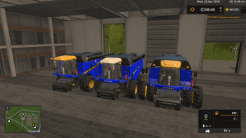 Комбайн VERSATILE RT490 BLUE V1.0 для Farming Simulator 2017