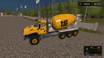 Миксер CATERPILLAR CEMENT MIXER V1.0 для Farming Simulator 2017