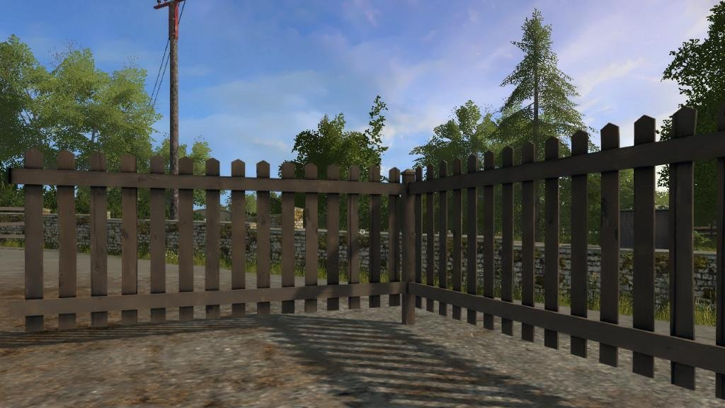 Объект GE WOOD FENCE PANEL (PREFAB) V1.0.0.0 для Farming Simulator 2017
