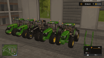 Пак JOHN DEERE 6R SERIES NEW PACK V1.1  для Farming Simulator 2017