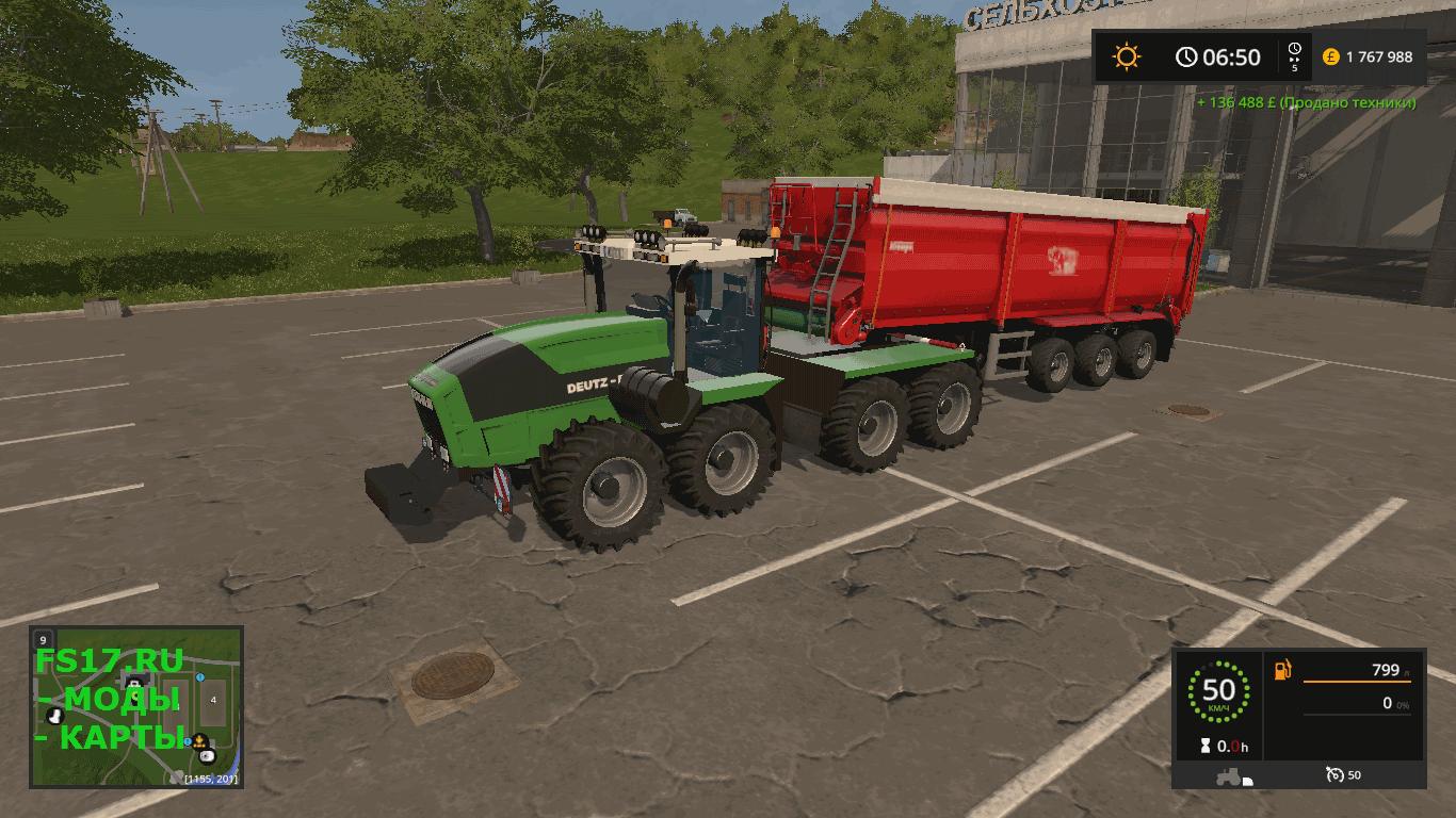 Трактор DEUTZ-FAHR AGRO XXL FINAL для Farming Simulator ...