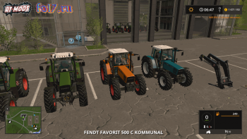 Трактор FENDT 500 FAVORIT C SERIES FINAL для Farming Simulator 2017