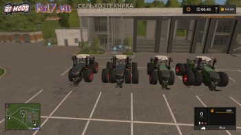 Пак тракторов FENDT VARIO T FL PACK BLACK / GREEN V4.0 для Farming Simulator 2017