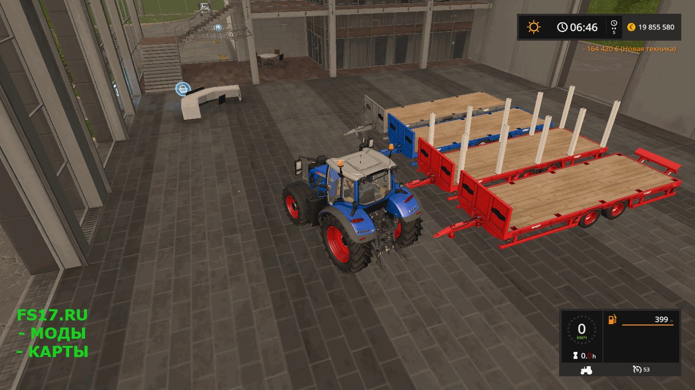 Прицеп HERBST 24FT FLAT BED TRAILER V1.0.0.0 для Farming Simulator 2017